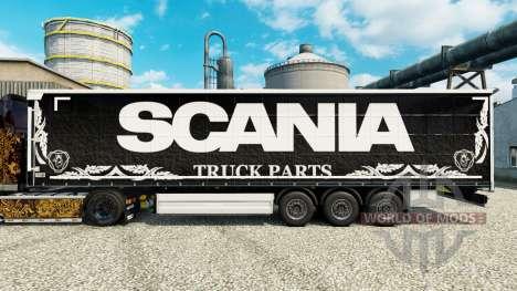 Pele Scania Truck Peças escuras para semi para Euro Truck Simulator 2