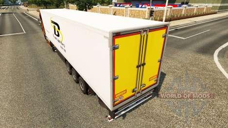 TB Transportes pele para reboques para Euro Truck Simulator 2