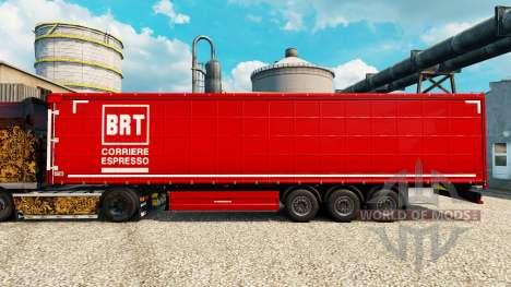 Pele BRT na semi para Euro Truck Simulator 2