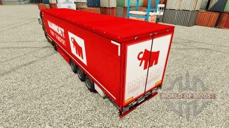 A Mammoet pele para reboques para Euro Truck Simulator 2