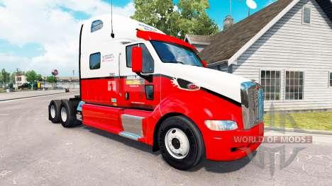 Pele Arnold Bros. trator Peterbilt 387 para American Truck Simulator