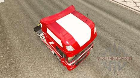 Metalizado pele para caminhões DAF para Euro Truck Simulator 2