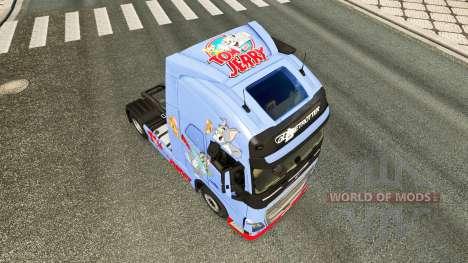 A pele de Tom & Jerry para a Volvo caminhões para Euro Truck Simulator 2