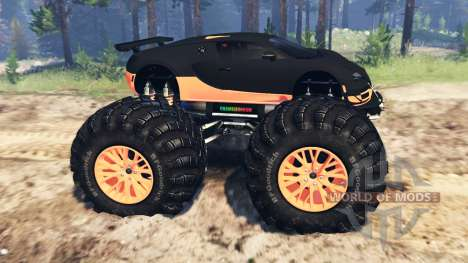 Bugatti Veyron SS [monster truck] para Spin Tires