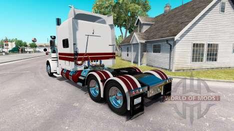 O Cavaleiro Branco de pele para o caminhão Peter para American Truck Simulator
