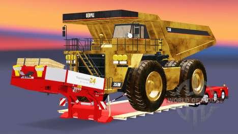 Baixa varrer com o caminhão Caterpillar para Euro Truck Simulator 2