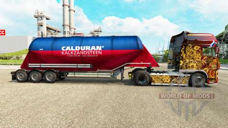 Pele Calduran cimento semi-reboque para Euro Truck Simulator 2