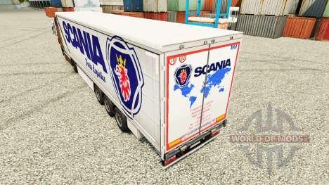 Pele Scania Logística de Peças para reboques para Euro Truck Simulator 2