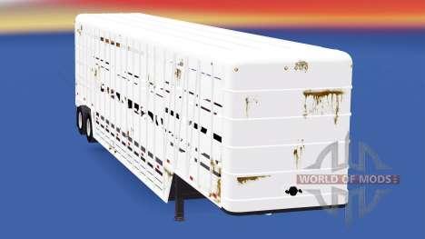 Semi-reboque-gado transportadora Wilson para American Truck Simulator