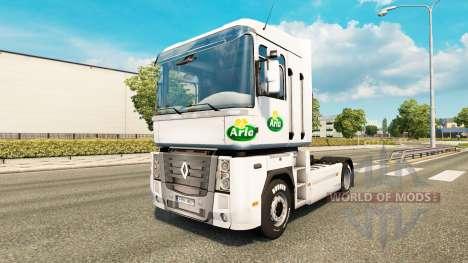 Pele Arla v2.0 trator Renault para Euro Truck Simulator 2