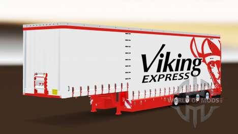 Cortina semi-reboque Krone Viking Express para Euro Truck Simulator 2