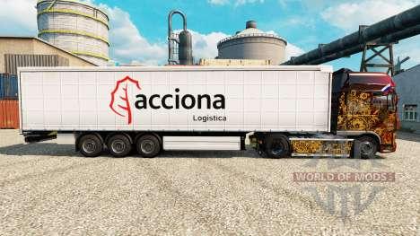 Pele Acciona para reboques para Euro Truck Simulator 2