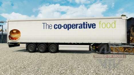 Pele O co-operative food em uma cortina semi-reb para Euro Truck Simulator 2