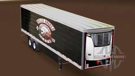 Pele Hells Angels em refrigerada com semi-reboqu para American Truck Simulator