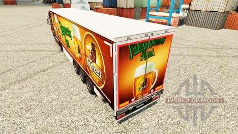 Pele Velkopopovicky Kozel para reboques para Euro Truck Simulator 2