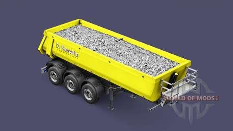 Semi-reboque basculante Schmitz Rosafio transpor para Euro Truck Simulator 2