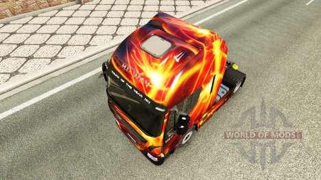Fogo a pele do Efeito para a Iveco unidade de tr para Euro Truck Simulator 2