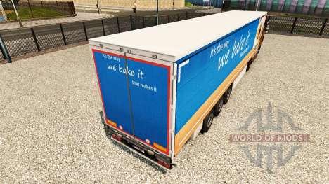 Pele Greggs em uma cortina semi-reboque para Euro Truck Simulator 2