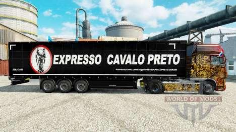 Pele Expresso Cavalo Preto na semi para Euro Truck Simulator 2
