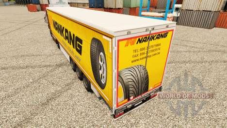 Nankang pele para reboques para Euro Truck Simulator 2