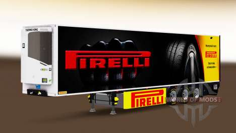 Semi-reboque frigorífico Chereau Pirelli para Euro Truck Simulator 2