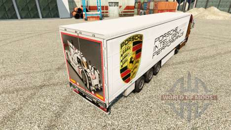 Pele Porsche para reboques para Euro Truck Simulator 2