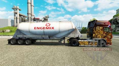 Pele Engemix cimento semi-reboque para Euro Truck Simulator 2