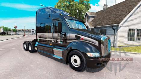 A pele de Marta no trator Peterbilt 387 para American Truck Simulator