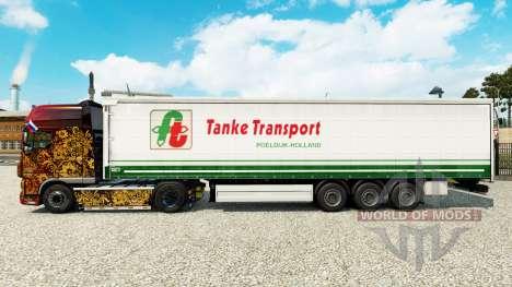 Pele Tanke de Transporte no semi-reboque cortina para Euro Truck Simulator 2