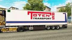 Semi-reboque frigorífico Chereau Toten Transporte para Euro Truck Simulator 2