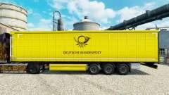 A pele do Deutsche Bundespost para reboques para Euro Truck Simulator 2