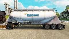 Pele Hanson cimento semi-reboque para Euro Truck Simulator 2
