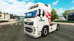 Viking Express pele para a Volvo caminhões para Euro Truck Simulator 2