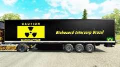Pele Biohazard Intercorp Brasil na semi para Euro Truck Simulator 2