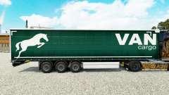 A pele em uma cortina de Carga Van semi-reboque para Euro Truck Simulator 2