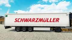 Pele Schwarzmuller semi-reboque em uma cortina de para Euro Truck Simulator 2