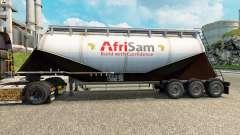 Pele AfriSam cimento semi-reboque para Euro Truck Simulator 2