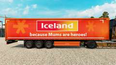 A pele na Islândia, uma cortina semi-reboque para Euro Truck Simulator 2