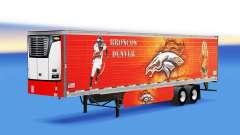 Pele Denver Bronco no refrigerados semi-reboque para American Truck Simulator