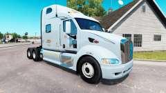 Pele K&J no trator Peterbilt 387 para American Truck Simulator