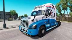 Скин Norte-Americana на Freightliner Cascadia para American Truck Simulator
