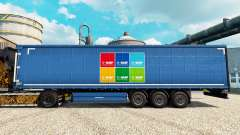 Pele BASF Societas Europaea na semi para Euro Truck Simulator 2