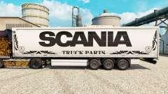 Pele branca Scania Truck Peças para semi-reboques para Euro Truck Simulator 2