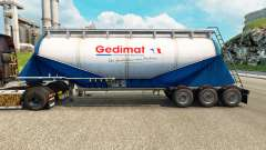 Pele Gedimat cimento semi-reboque para Euro Truck Simulator 2