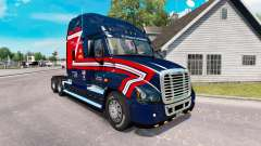 Скин Transportadores de Cargas на Freightliner Cascadia para American Truck Simulator