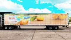 Dole pele estendida do trailer para American Truck Simulator