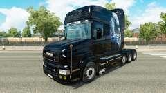 Branco Chita pele para caminhão Scania T para Euro Truck Simulator 2