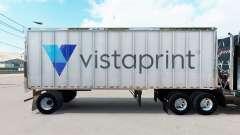Pele Vistaprint em um pequeno trailer para American Truck Simulator