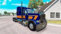 Скин Rollin Transporte de v1.1 на Peterbilt 389 para American Truck Simulator