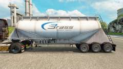 Pele Bronze de Transporte de cimento semi-reboque para Euro Truck Simulator 2